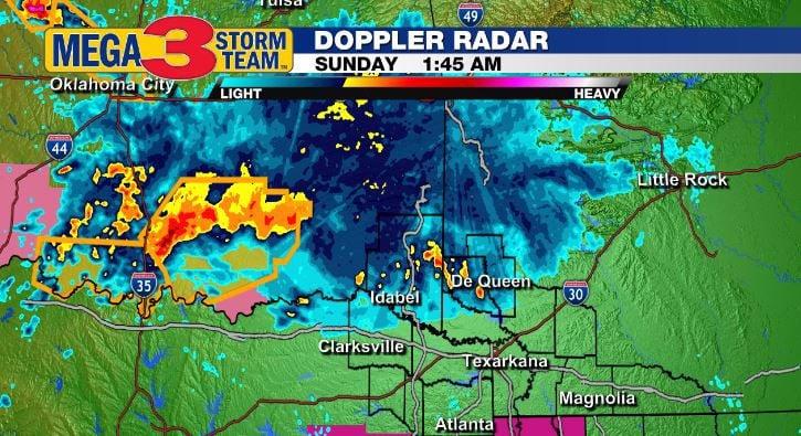 Mega 3 Storm Team Doppler Radar Image from early Sunday morning