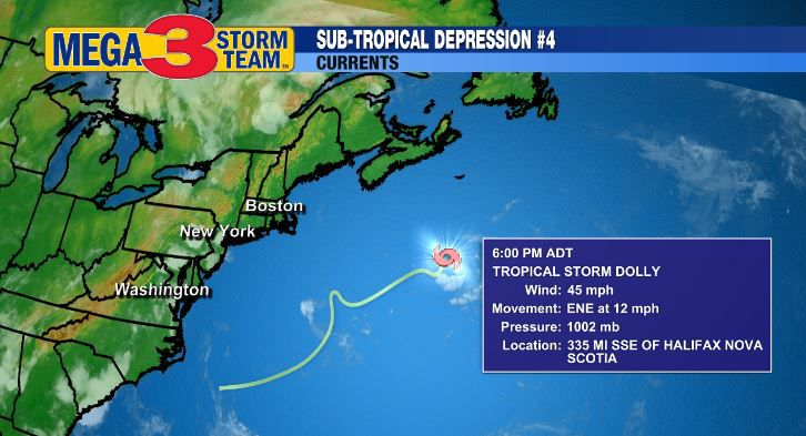 Current Data about Tropical Storm Dolly from the National Hurricane Center
