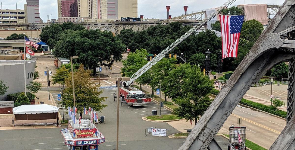 Festival overhead shot