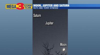 Moon, Jupiter and Saturn Image from Ruth and Terry Atwood