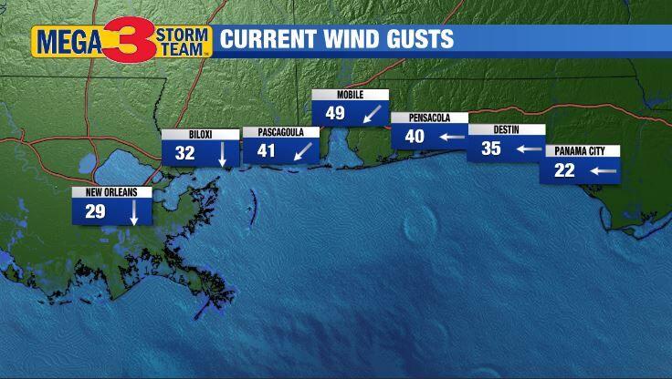 Hurricane Sally slowly approaching the Alabama coast line ... Hurricane Sally Tracker Today