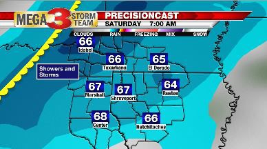Forecast for Saturday Morning