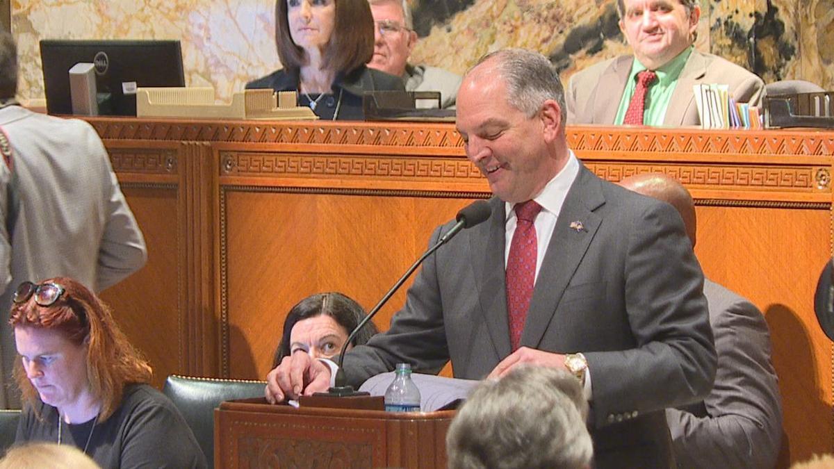 Gov. John Bel Edwards at the Legislature
