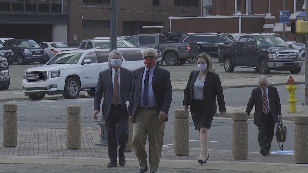 David deBerardinis walks to court to plead
