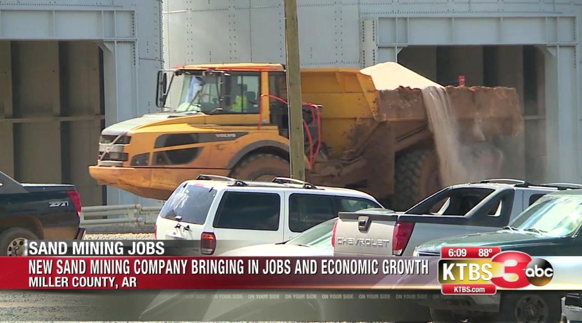 Sand mining company brings new jobs to Doddridge, Arkansas