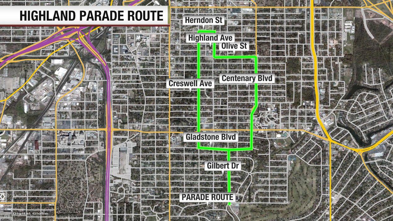 Parade route 2019 shreveport