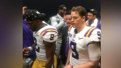 LSU players with cigars