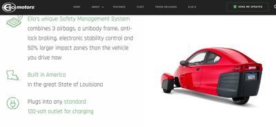 Elio Motors electric vehicle