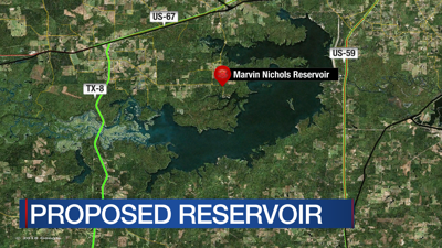 Controversy over proposed Marvin Nichols Reservoir again