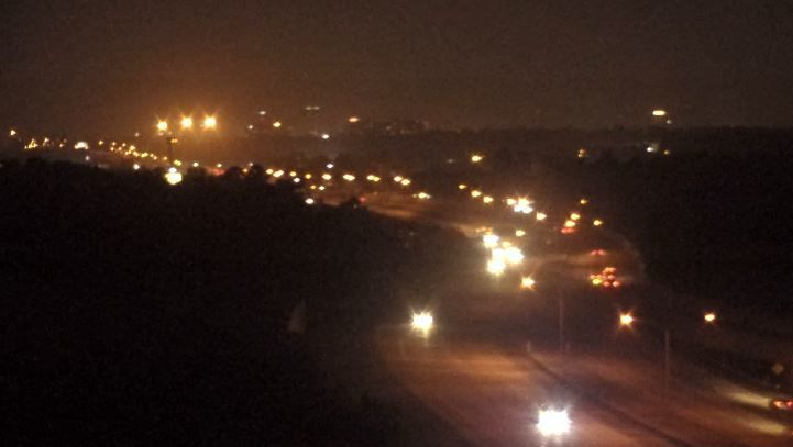 I-49 Towercam picture of a hazy Friday night in Shreveport