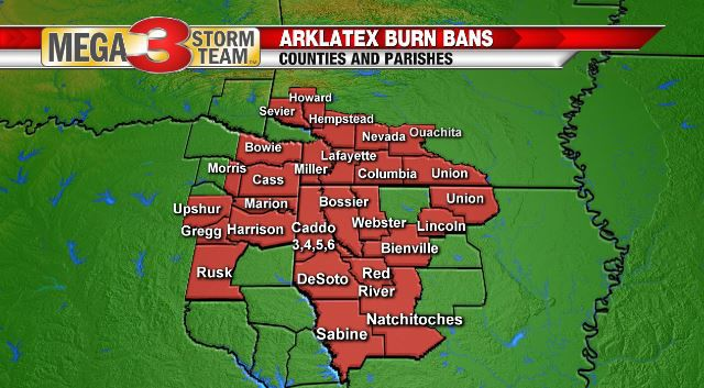 Latest Burn Bans as of 9/17/19