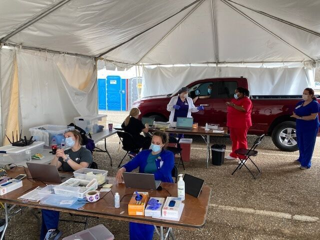 vaccinations at Shreveport Fairgrounds