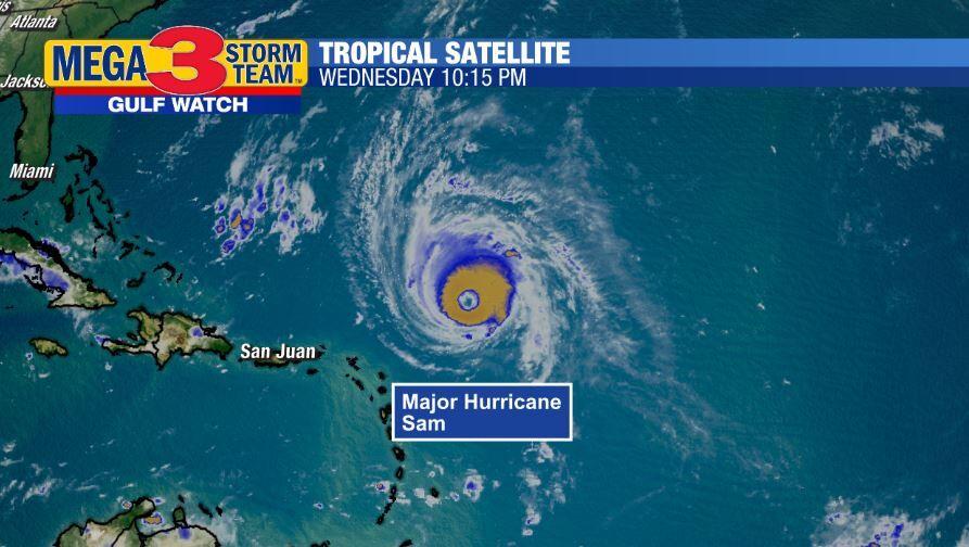 Satellite Image of Major Hurricane Sam