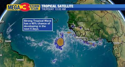 Satellite Image of the Strong Tropical Wave in the Atlantic