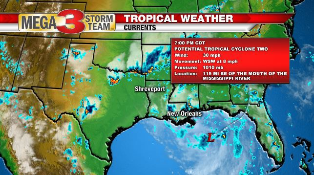 Potential Tropical Cyclone Update at 7 PM Wednesday