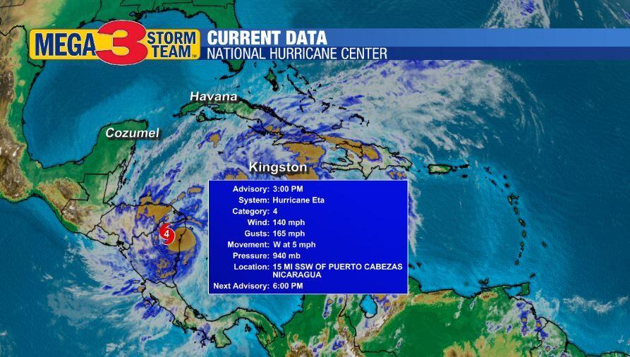 Current Information on Hurricane Eta from the National Hurricane Center