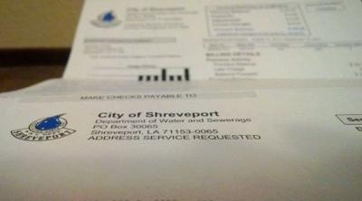 Shreveport water bill