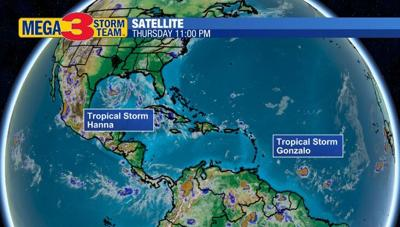 Two Tropical Storms in the Atlantic Basin