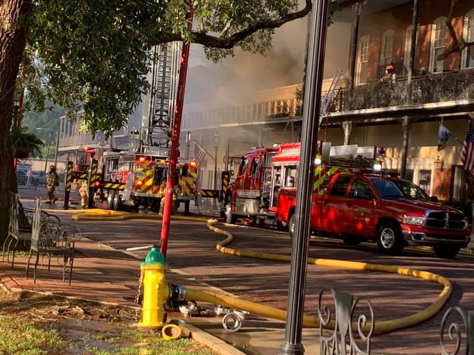 Natchitoches downtown fire