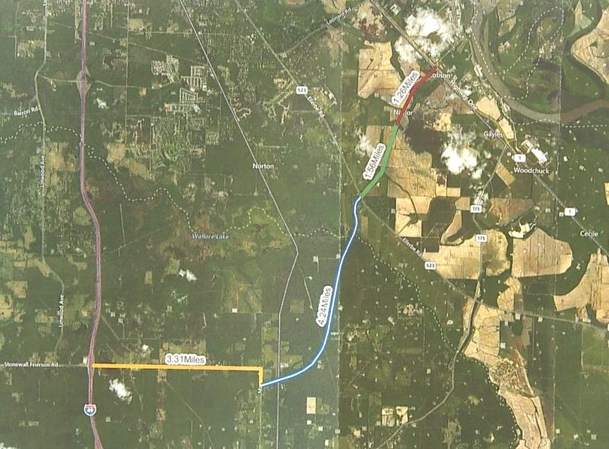 I-69 frontage road map