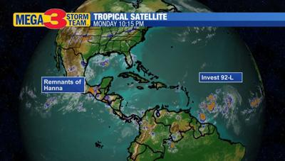 Tropical Satellite for Monday evening