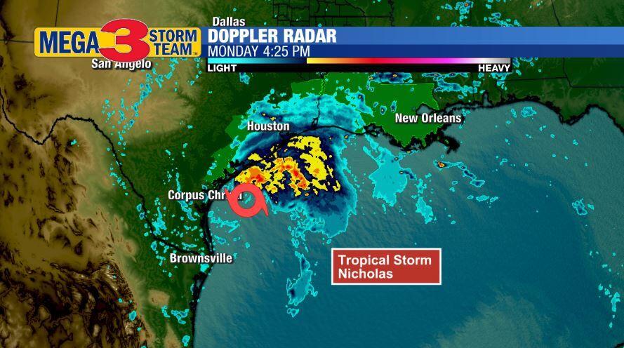 Radar Image of Tropical Storm Nicholas