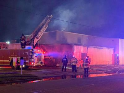 County Market Fire on Hearne Avenue