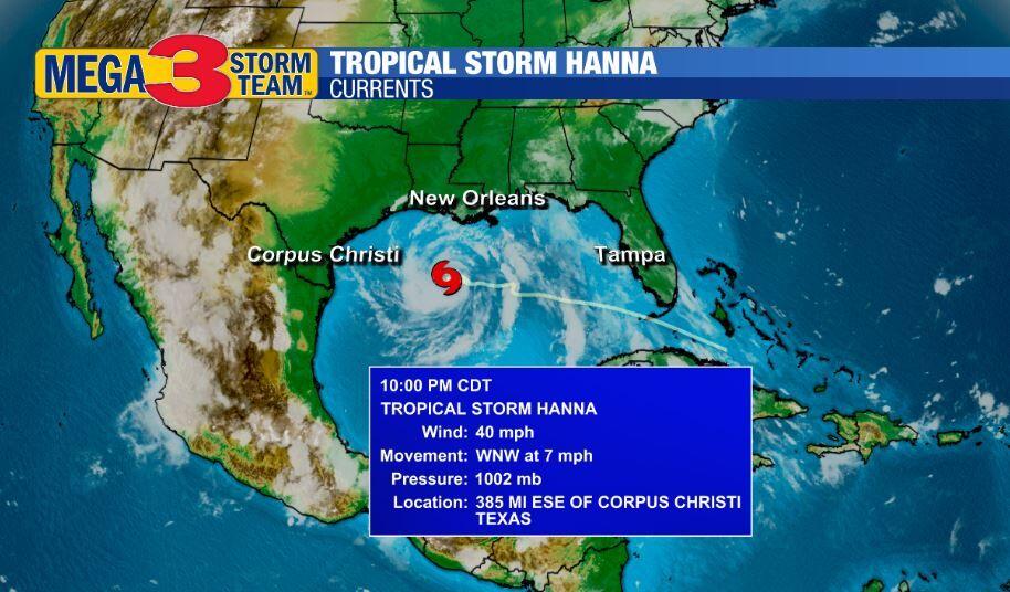 Tropical Storm Hanna Currents