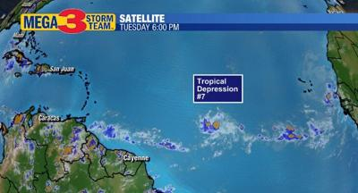 Tropical Depression #7 in the Central Atlantic Ocean