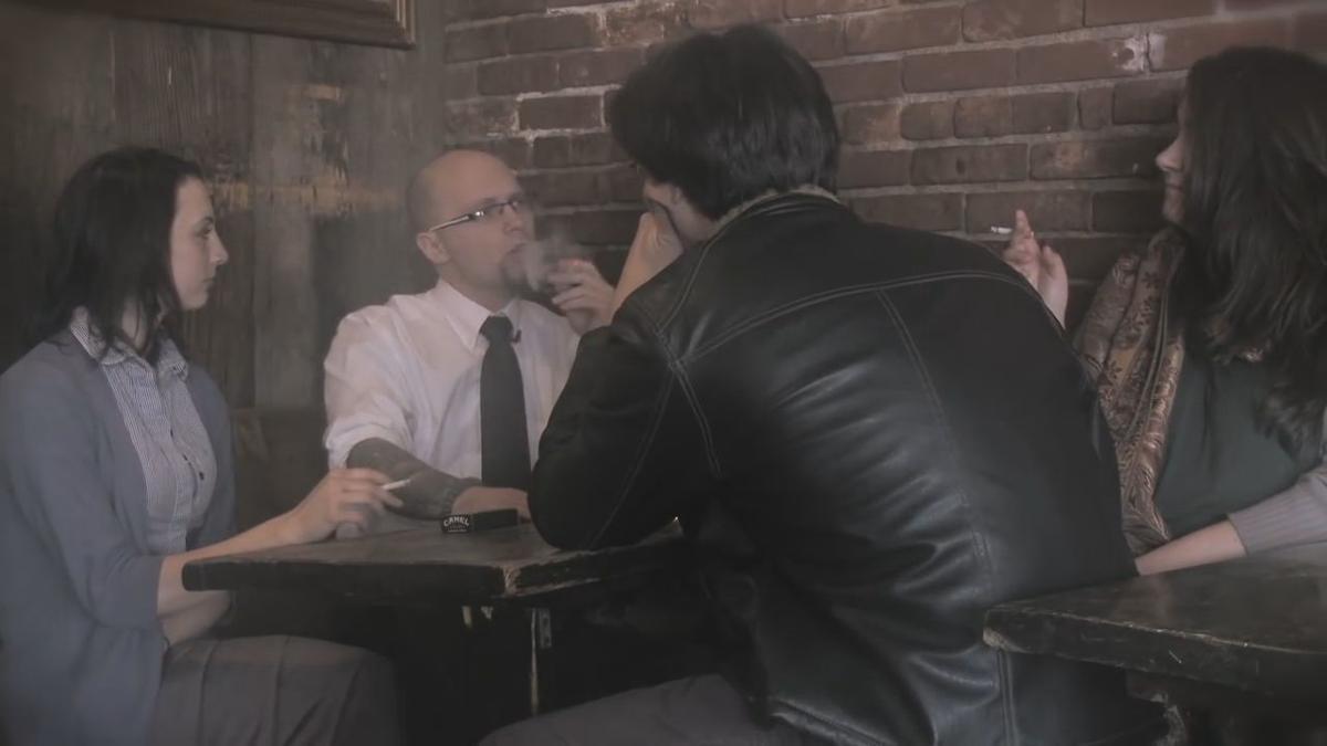 Smoking in bar