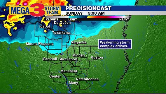 3 AM Sunday Forecast