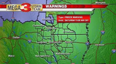 Freeze Warning For Tonight