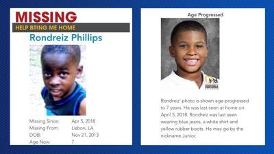 Rondreiz Phillips missing and age progressed photos