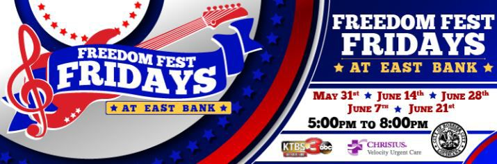 Freedom Fest Friday at Bossier City's East Bank