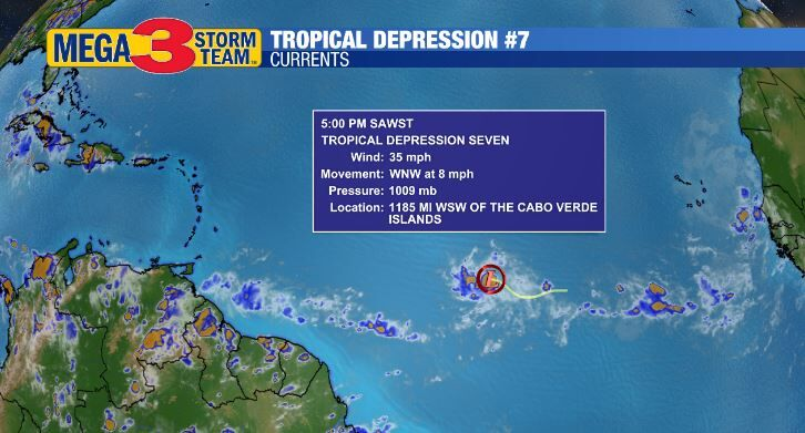 Tropical Depression #7 Currents from the National Hurricane Center