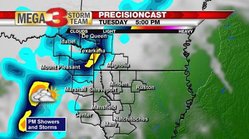 5 PM Tuesday Forecast