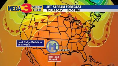 Jet Stream Forecast for Thursday Evening