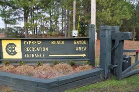 Cypress Black Bayou Recreation Area sign