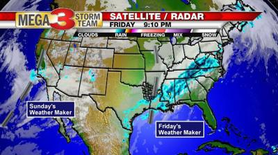 Next Weather Maker as of Friday evening
