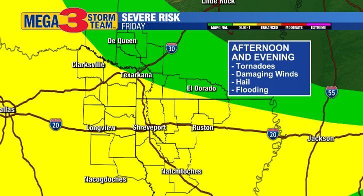 Severe Storm Risk for Friday
