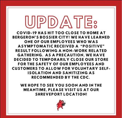 Bergeron's Facebook post