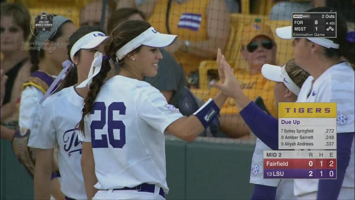 lsu ull softball score