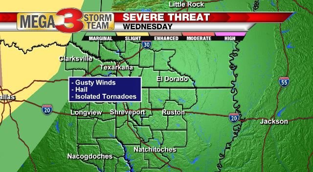 Severe Risk for the rest of Wednesday Night