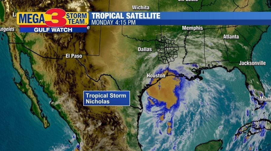 Satellite Image of Tropical Storm Nicholas