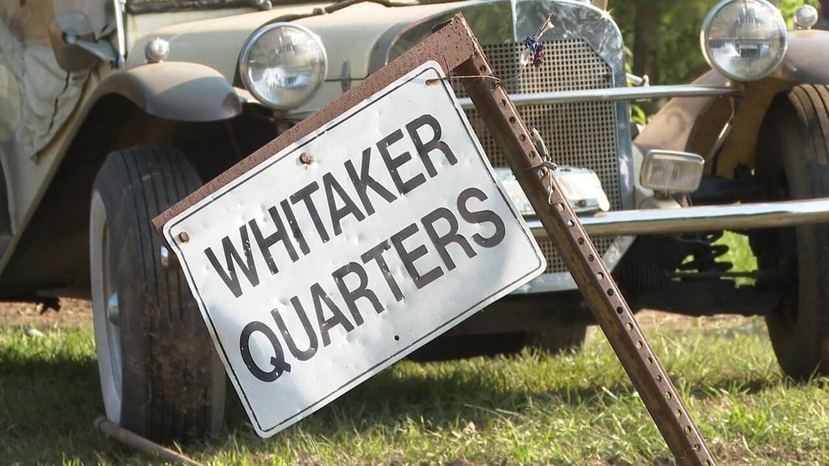 Grand Cane trail ride - Whitaker Quarters sign