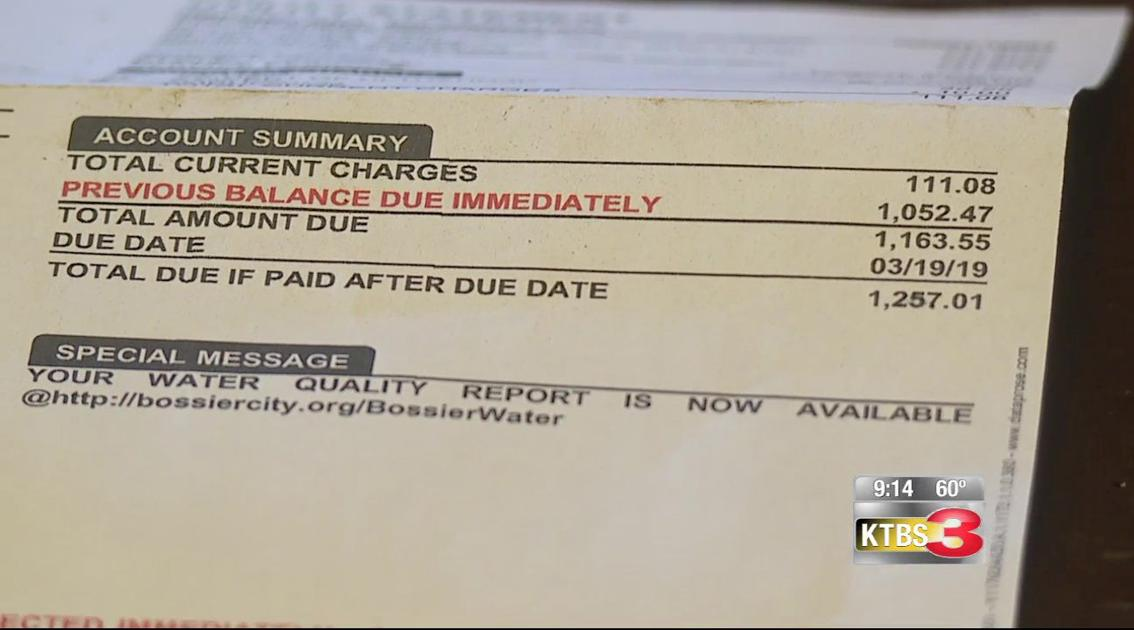 Bossier City water customer complains of getting soaked with