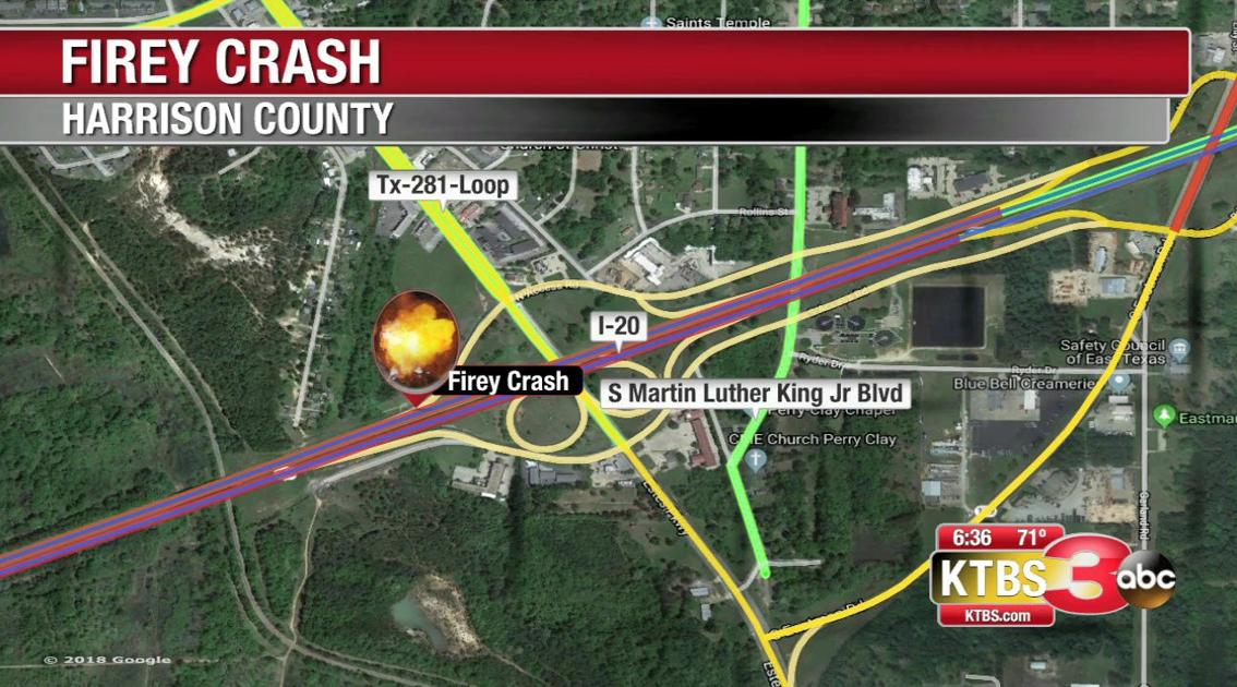 A fiery crash in Harrison County brings traffic to a