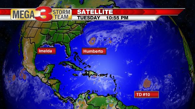 Three storms in the Atlantic Basin on 9/17/19