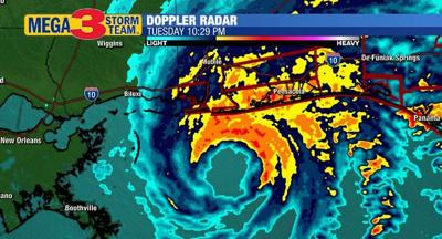 Radar Image of Hurricane Sally Late Tuesday Evening