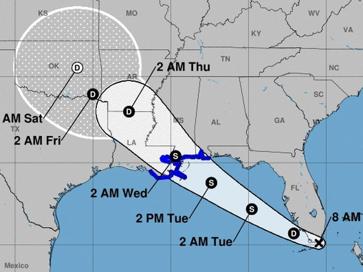 The Latest: Hurricane warning issued for US Gulf Coast   Tropical ...